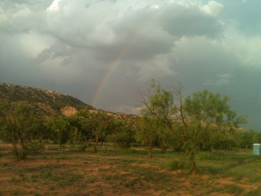 Rainbow at Palo Duro