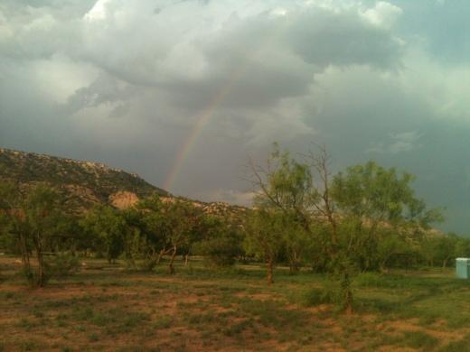 Rainbow at Palo Duro