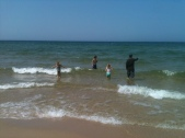 Nieces and Nephew at Esch Road Beach