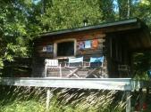 the sauna cabin