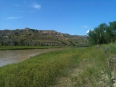 Little Missouri River by our Camp