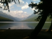 Placid Bowman Lake in Evening
