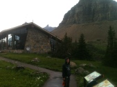 Billy, Cold and Wet at Logan's Pass