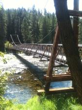 Bridge to Jerry Johnson Hot Springs