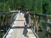 Billy over the Lochsa River