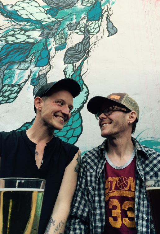 Spence and Billy enjoy Craft Beer