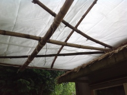 Lashed Tarp Roof