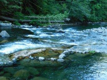 Salmon River Rapids Near Icy Pools