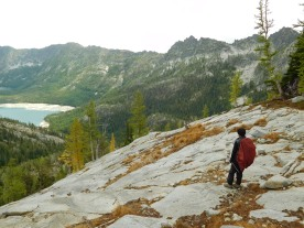 Billy and the view of Upper Snow Lake
