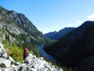 Hiking Out The Enchantments Along Snow Creek