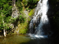 Sahale Falls on the trail up to Mt Hood Meadows