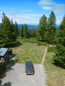 The first glance from the fire tower when we arrived