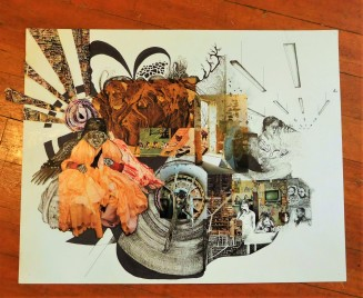 Drawing I Narrative Collage Study - Billy von Raven