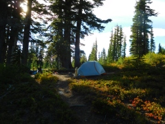 Our high camp at Park Lake