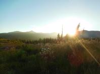 Sunset on the Oregon Coast Range