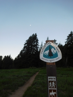 Our local PCT route and ever-pulling Moon