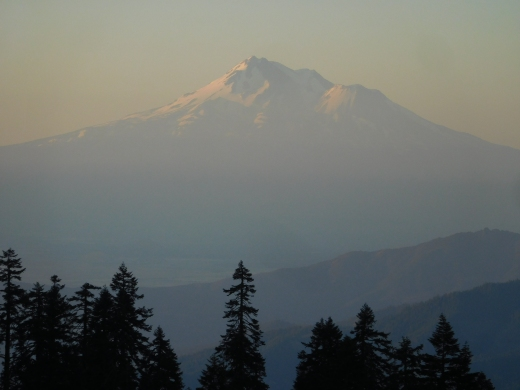 Mt. Shasta in California, as seen from atop Mt. Ashland