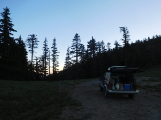 Our first night on Mt. Ashland