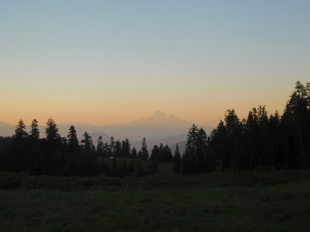 mt. shasta through the smoke