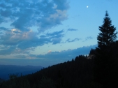 waning moon from mt. ashland